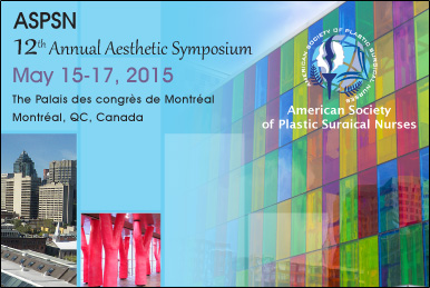 ASPSN 12th Annual Aesthetic Symposium May 15-17, 2015